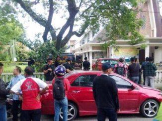 Gereja Santo Yoseph Medan seusai kejadian penyerangan seorang Pastor.Istimewa