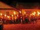 Pawai obor dan lilin umat Keuskupan Agung Merauke. [Fredy Hendro Soebiakto]