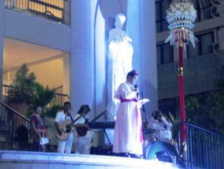 Mgr Silvester San PR memimpin Misa pembukaan Asian Liturgy Forum di Gereja St Fransiskus Xaverius, Kuta, Bali.  HIDUP/Antonius E. Sugiyanto