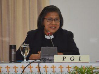 Ketua Persekutuan Gereja-Gereja di Indonesia, Pendeta Henriette T. Hutabarat-Lebang  (Foto: Dokpen. KWI/Indra)