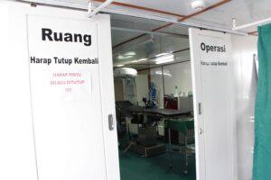 Ruang operasi Rumah Sakit Apung Nusa Waluya I (Foto: HIDUP/Yanuari Marwanto)