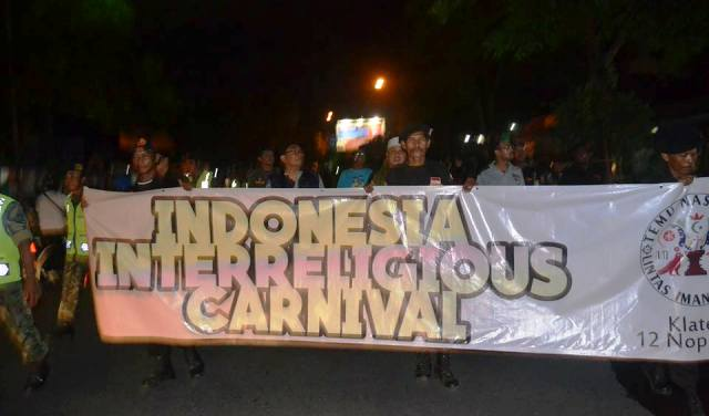 Karnaval Temu Nasional Lintas Iman dan Budaya di Klaten, Jawa Tengah. (Dok. FKUB Klaten)