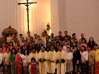 Panitia Tahun Lingkungan dan HUT ke-45 Paroki MBK, Tomang. [HIDUP/Maria Pertiwi]