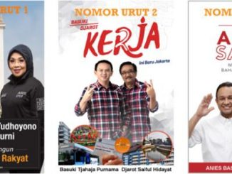 Tiga Pasangan Calon Gubernur dan Wakil Gubernus DKi Jakarta. (Sumber: kpujakarta.go.id)