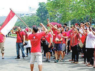 Aksi pemuda lintas agama di sekitar Bundaran Hotel Indonesia Jakarta.[Dok. Komkep KAJ]