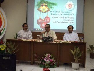 Mgr Ignatius Suharyo dalam konferensni pers