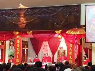 Misa Imlek di Gereja St Maria de Fatima, Toasebio, Jakarta Barat