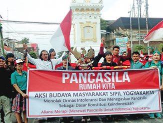 """Pawai damai """"Pancasila Rumah Kita Bersama"""".[HIDUP/H.Bambang S]"""