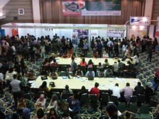 "Para pengunjung ""Unika Atma Jaya Job Fair 2017"" memadati Auditorium Yustinus 15. (Dok. atmajaya.ac.id)"