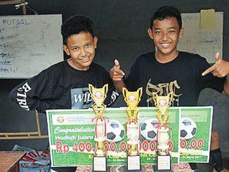 Pemenang Lomba futsal Espaldi Cup.[Laurentius Sukamta]