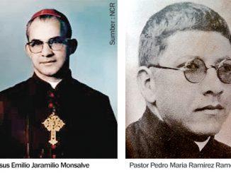 Mgr Jesus Emilio Jaramilio Monsalve dan Pastor Pedro Maria Ramirez Ramos